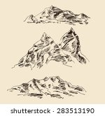mountain scenery sketch hand... | Shutterstock .eps vector #283513190