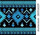 bright hand drawn tribal... | Shutterstock .eps vector #283516229