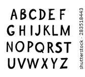 english alphabet watercolor... | Shutterstock .eps vector #283518443