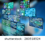 many abstract images on the... | Shutterstock . vector #283518524