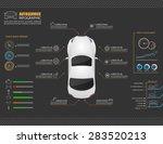 car auto service infographics... | Shutterstock .eps vector #283520213