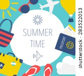 summertime concept vector... | Shutterstock .eps vector #283522013