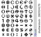 vector stripes circular. font... | Shutterstock .eps vector #283524170