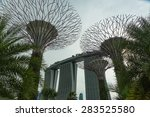 singapore   may 12  gardens by... | Shutterstock . vector #283525580
