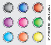 colorful round buttons icon set ... | Shutterstock . vector #283526813