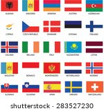 illustrated flags from the...   Shutterstock .eps vector #283527230