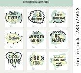 set of vintage creative cards...   Shutterstock .eps vector #283527653
