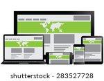 illustrative responsive web...   Shutterstock .eps vector #283527728