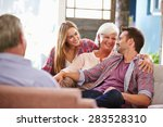 family with adult children... | Shutterstock . vector #283528310