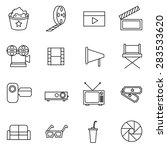 movie and film icons set vector ... | Shutterstock .eps vector #283533620