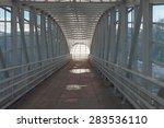 the covered city crosswalk | Shutterstock . vector #283536110