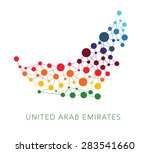 dotted texture united arab... | Shutterstock .eps vector #283541660