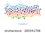 dotted texture turkey vector... | Shutterstock .eps vector #283541708