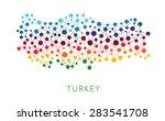 dotted texture turkey vector... | Shutterstock .eps vector #283541708