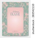 vector vintage frame retro... | Shutterstock .eps vector #283542110