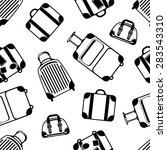 seamless pattern with black... | Shutterstock .eps vector #283543310