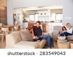 family spending time together... | Shutterstock . vector #283549043
