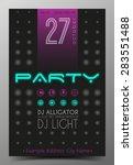 party flyer. nightclub flyer. | Shutterstock .eps vector #283551488