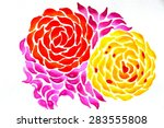 abstract floral pattern   wavy... | Shutterstock . vector #283555808
