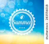a summer themed background with ... | Shutterstock .eps vector #283556018