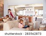 family spending time together... | Shutterstock . vector #283562873