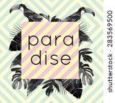 the word paradise framed exotic ... | Shutterstock .eps vector #283569500
