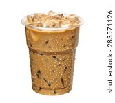 Iced Coffee Or Caffe Latte In...