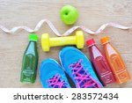 set for sports activities and... | Shutterstock . vector #283572434
