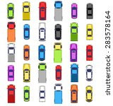 multicolored car collection... | Shutterstock .eps vector #283578164