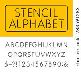 the stencil thin alphabet... | Shutterstock .eps vector #283591283