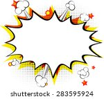 Explosion, isolated retro style comic book background. | Shutterstock vector #283595924