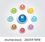 infographic composition with... | Shutterstock .eps vector #283597898