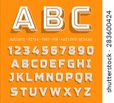 vector retro 3d font with... | Shutterstock .eps vector #283600424