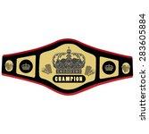 boxing belt vector illustration.... | Shutterstock .eps vector #283605884