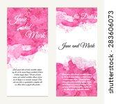 invitation card on wedding ... | Shutterstock .eps vector #283606073