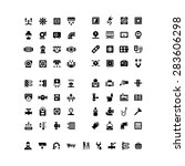 house system icons. set icons...   Shutterstock .eps vector #283606298