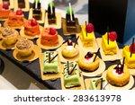 dessert in restaurant | Shutterstock . vector #283613978