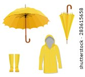Yellow Raincoat  Rubber Boots ...