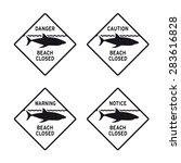 caution warning danger no... | Shutterstock .eps vector #283616828