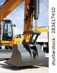 bucket loader excavator closeup ... | Shutterstock . vector #283617410