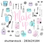 the set of hand drawn beauty... | Shutterstock .eps vector #283624184