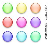 buttons set. round blank vector ... | Shutterstock .eps vector #283624514