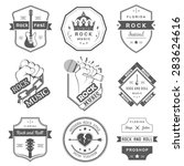 set of logos rock music and... | Shutterstock .eps vector #283624616