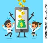 business concept cartoon... | Shutterstock .eps vector #283628690
