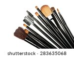 Various Makeup Brushes Isolate...