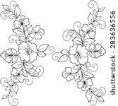 flower vector ornament frame....   Shutterstock .eps vector #283636556
