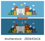 flat design modern vector... | Shutterstock .eps vector #283642616