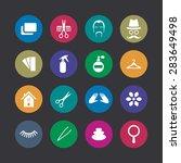 barbershop icons universal set... | Shutterstock . vector #283649498