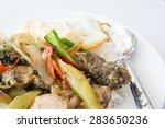 fried chicken with black pepper | Shutterstock . vector #283650236