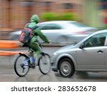 dangerous city traffic... | Shutterstock . vector #283652678